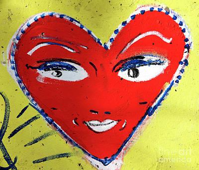 Photograph - Heart The Berlin Wall by John Rizzuto