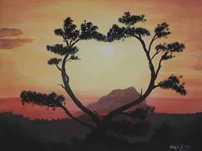Heart Tree Art Print by Ken Day