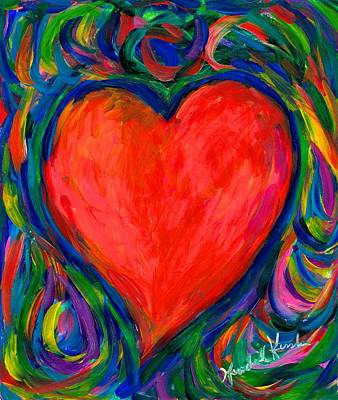 Painting - Heart Twirl by Kendall Kessler