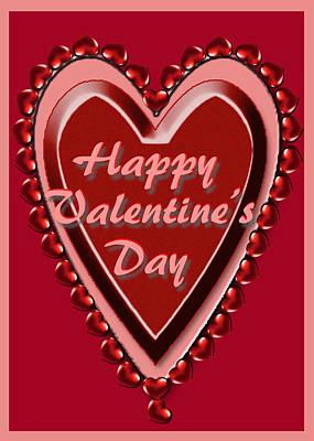 Digital Art - Heart Valentine Card by Michelle Audas