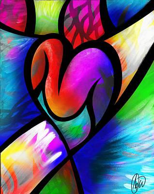 Heart Vectors Art Print