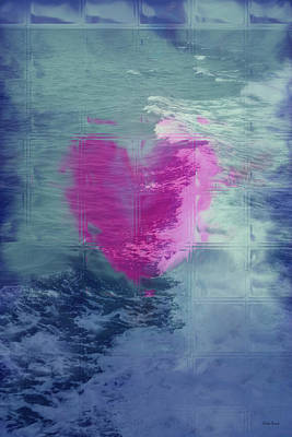Abstract Hearts Digital Art - Heart Waves by Linda Sannuti