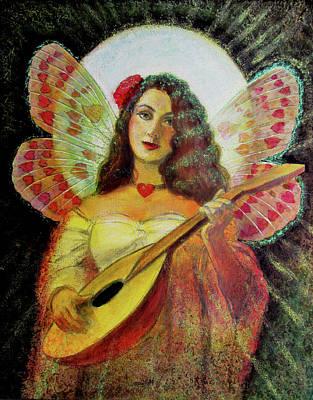Painting - Heart Wings Angel by Sue Halstenberg