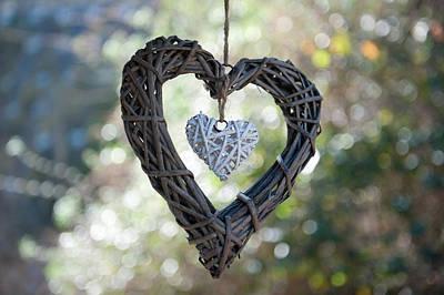 Photograph - Heart With A Heart by Helen Northcott
