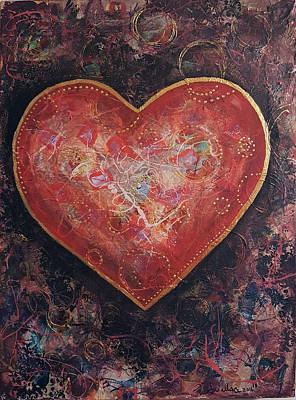 Mixed Media - Heart With A Secret by Sandra Wallace