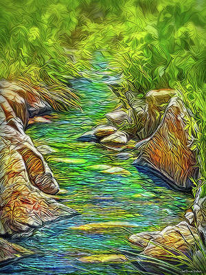 Digital Art - Heartbeat Of A Stream by Joel Bruce Wallach