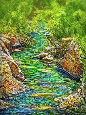 Digital Art - Heartbeat Of A Stream by Joel Bruce Wallach