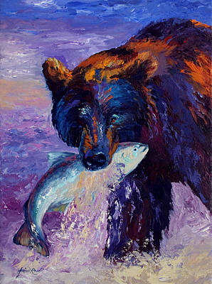 Grizzly Painting - Heartbeats Of The Wild by Marion Rose