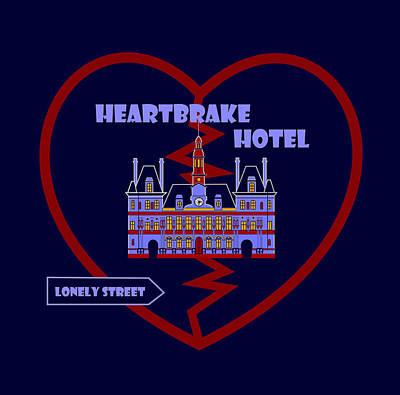 Heartbrake Hotel Original by Asbjorn Lonvig