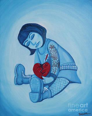 Painting - Heartbreak For Iggy Pop by Brenda Kato