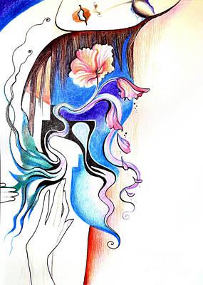Tears Drawing - Loss by Ilana Tavshunsky