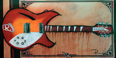 Painting - Heartbreaking 12 String by Sean Parnell