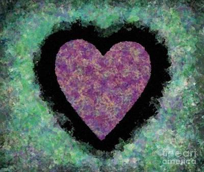 Digital Art - Hearted On Your Wall Again Tah Dah by Catherine Lott