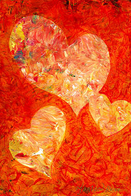 Folkart Painting - Heartfelt 2 by Marion Rose