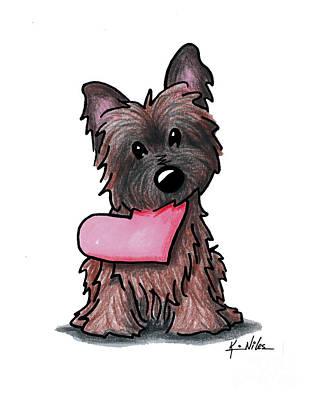 Kim Drawing - Heartfelt Ash Cairn by Kim Niles