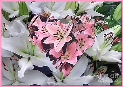Photograph - Heartfelt Lilies by Joan-Violet Stretch