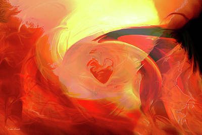 Abstract Hearts Digital Art - Heartfelt by Linda Sannuti