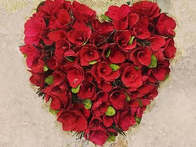 Digital Art - Lovable Heartfelt Roses by Anne Sands