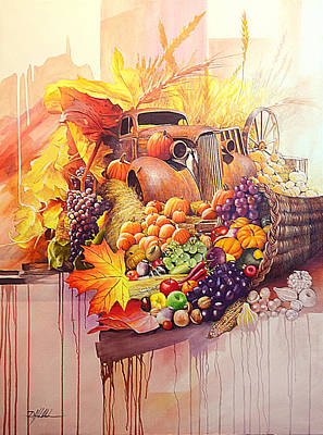 Horn Of Plenty Painting - Heartland Harvest by Danny Hahlbohm