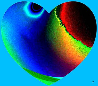 Abstract Hearts Digital Art - Heartline 2 by Will Borden