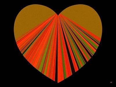 Digital Art - Heartline 5 by Will Borden