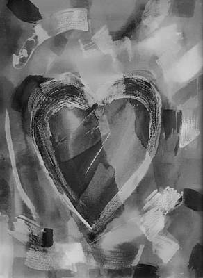 Photograph - Hearts A Fire Black And Grey by Rob Hans
