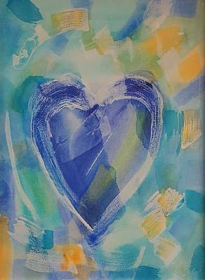 Photograph - Hearts A Fire Blue Gold by Rob Hans