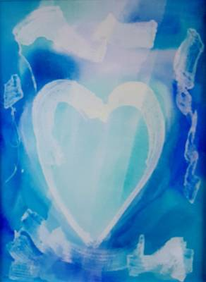 Photograph - Hearts A Fire Blue by Rob Hans