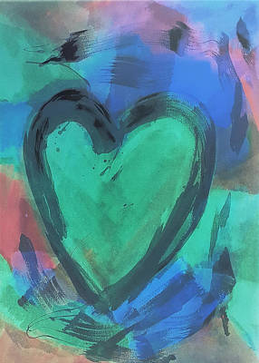 Painting - Hearts A Fire Green by Rob Hans