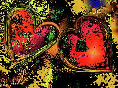 Digital Art - Hearts Adrift by David Pantuso