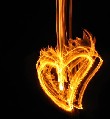 Hearts Aflame -falling In Love Art Print