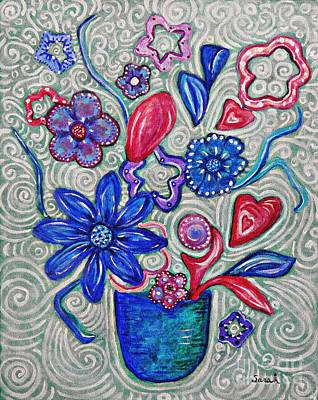 Painting - Hearts And Flowers by Sarah Loft
