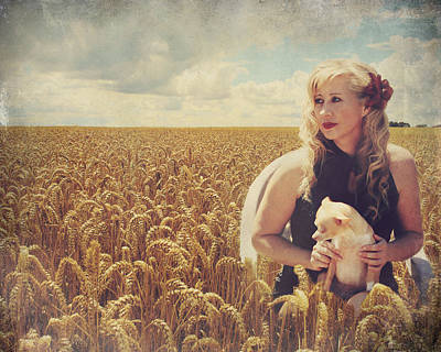 Wheat Field Sky Photograph - Hearts And Thoughts They Fade....fade Away by Laurie Search