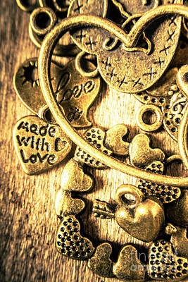 Brass Wall Art - Photograph - Hearts And Treasure by Jorgo Photography - Wall Art Gallery