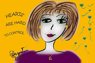 Hearts Are Hard To Control Print by Sharon Augustin