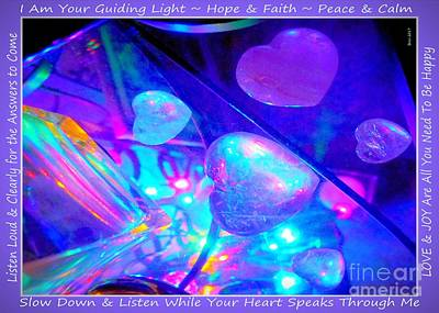Photograph - Hearts Crystals Aglow by Marlene Rose Besso