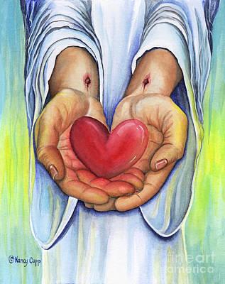 Heart's Desire Art Print by Nancy Cupp