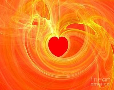 Digital Art - Hearts Full Of Love by Yali Shi