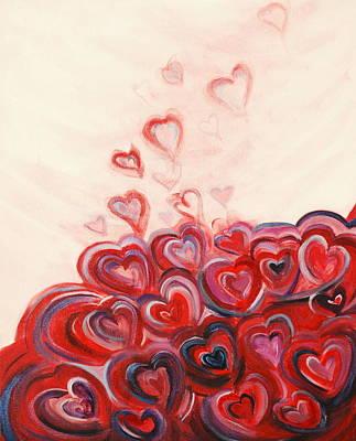 Deborah Brown Painting - Hearts Given To God by Deborah Brown Maher
