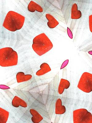 Photograph - Hearts In Red And White by Margie Avellino