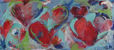 Corazones Painting - Hearts by Mariana Sola