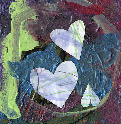 Caring Mother Mixed Media - Hearts by Michelle Dooley and Kaya Paxman