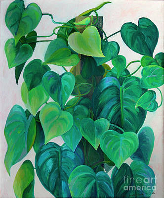 Photograph - Hearts Of Philodendron by Karen Adams