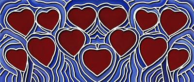 Painting - Hearts Of The Life Line by Barbara St Jean