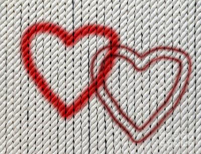 Twine Digital Art - Hearts On Cotton Twine by Michal Boubin