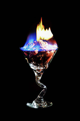 Martini Rights Managed Images - Hearts on Fire Royalty-Free Image by Scott Campbell