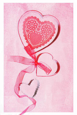 Print featuring the photograph Hearts by Rebecca Cozart