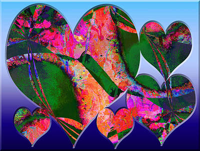 Digital Art - Hearts Together by Contemporary Art