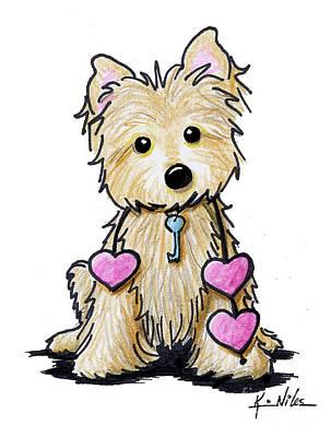 Heartstrings Cairn Terrier Art Print by Kim Niles