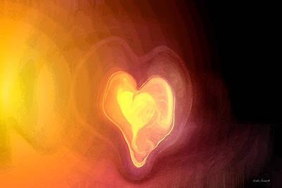 Abstract Hearts Digital Art - Heartwarming by Linda Sannuti